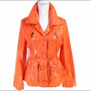 Orange Anorak Jacket NWOT